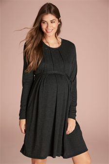Maternity Pleated Dress