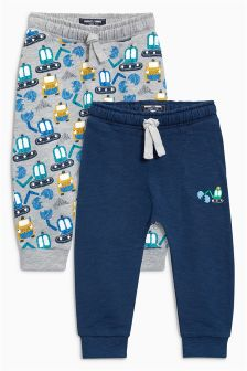 Digger Print Joggers Two Pack (3mths-6yrs)