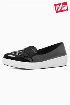 FitFlop™ Black Patent Fringy Sneakerloafer™