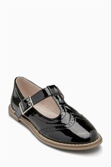 Brogue T-Bar Shoes (Older Girls)