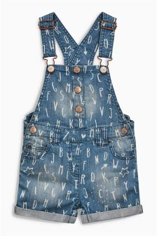 Printed Dungarees (3mths-6yrs)