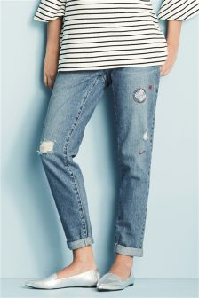 Boyfriend Jeans For Women | Ladies Ripped Boyfriend Jeans | Next