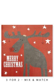 10 Christmas Moose Cards