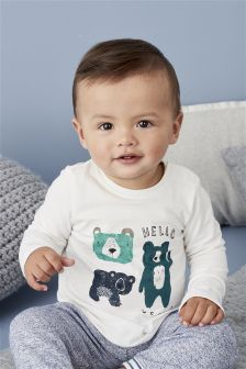 Bear Two Piece Jersey Set (0mths-2yrs)