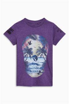 Skull Print T-Shirt (3-16yrs)