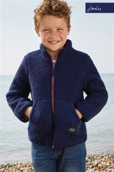 Joules Navy Fred Reversible Fleece