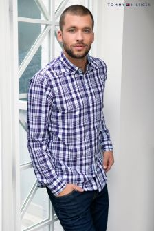 Tommy Hilfiger Purple/White Audley Check Shirt