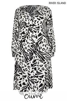 Phase Eight Grey/Black Colourblock Melinda Top