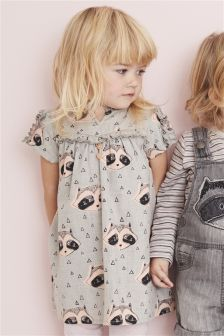 Raccoon Print Dress (3mths-6yrs)