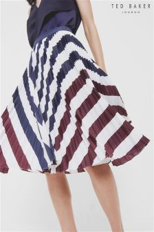 Ted Baker White Alliee Pleated Skirt