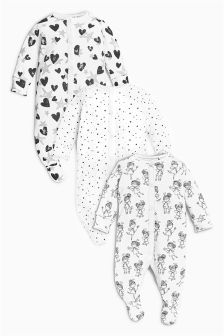 Fairy Sleepsuits Three Pack (0mths-2yrs)