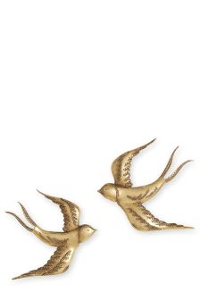 Set Of 2 Swallow Wall Plaques