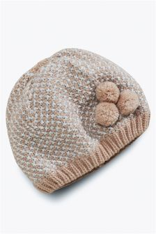 Knitted Beanie Hat (Younger Girls)