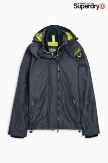 Superdry Navy/Green Technical Hooded Windcheater Jacket