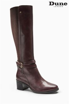 Dune Vivv Brown Knee High Boot