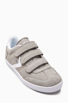 Suede Triple Strap Fashion Trainers (Older Boys)
