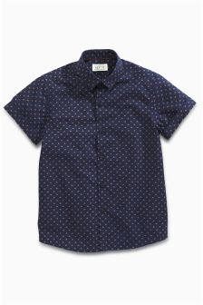 Geo Print Short Sleeve Shirt (3-16yrs)