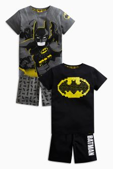 Lego™ Batman® Short Pyjamas Two Pack (4-10yrs)