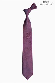 Signature Made In England Silk Tie