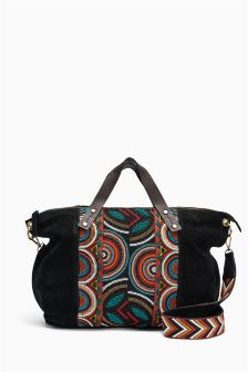 Leather Beaded Bag
