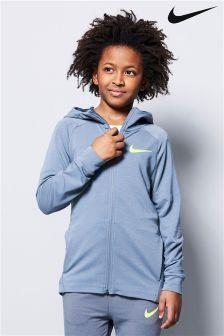 Nike Training Grey Dry Zip Through Hoody