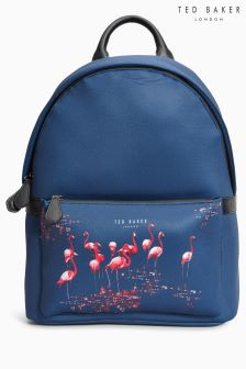 Ted Baker Navy Neon Printed Backpack
