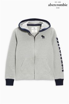 Abercrombie & Fitch Light Grey Logo Overhead Hoody