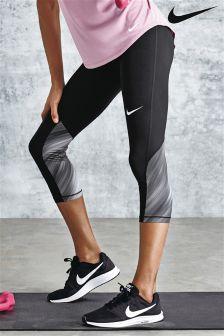 Nike Black/Grey Pro Cool Capri