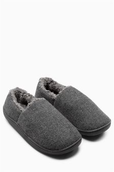 Herringbone Memory Foam Close Back Slipper