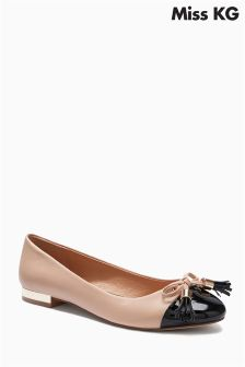 Miss KG Meena Nude Black Toe Pump