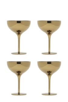 Set of 4 Metallic Saucers