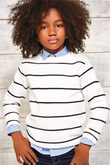 Long Sleeve Ripple Textured Jumper (3-16yrs)