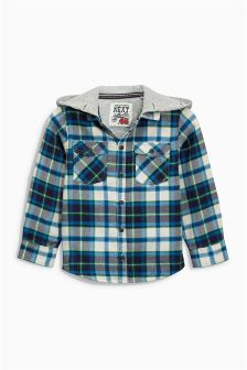 Hooded Check Shacket (3mths-6yrs)