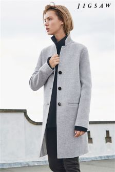Jigsaw Grey Oversized Coat