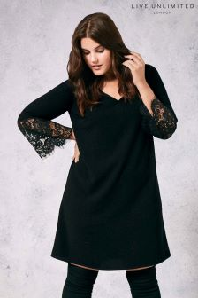 Live Unlimted Black Lace Trim Tunic