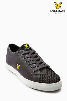 Lyle & Scott Grey Teviott Knit Lace Pump