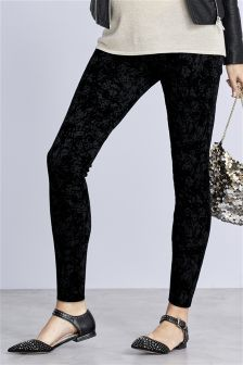Maternity Flocked Leggings