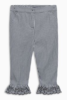 Gingham Frill Hem Trousers (3-16yrs)
