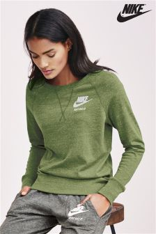 Nike Green Gym Vintage Crew