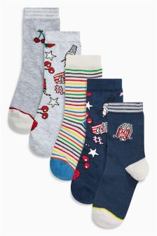 Socks Five Pack (Older Girls)