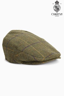 London Khaki Check Flat Cap