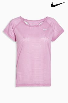 Nike Pink Breathe Running Top
