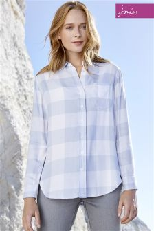 Joules Laurel Blue Gingham Shirt