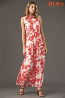 Boss Orange Red Floral Maxi Dress
