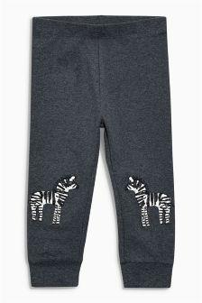 Zebra Embroidered Leggings (3mths-6yrs)