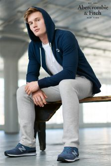 Abercrombie & Fitch Grey Marl Logo Jogger