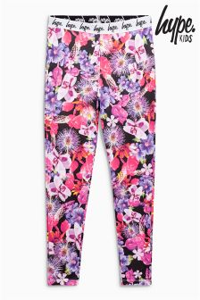 Hype Purple Floral Leggings