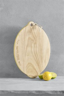 Lemon Shaped Wooden Chopping Board