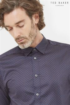 Ted Baker Blue Geo Print Shirt