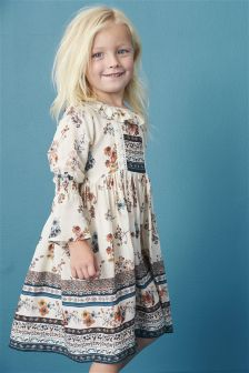 Floral Flute Sleeve Maxi Dress (3mths-6yrs)